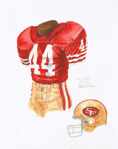 San Francisco 49ers 1984 - Heritage Sports Art - original watercolor artwork - 1