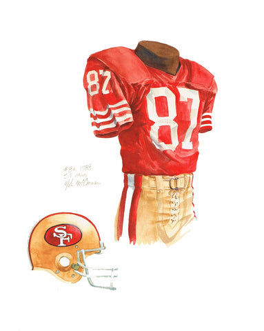 San Francisco 49ers 1988 - Heritage Sports Art - original watercolor artwork - 1