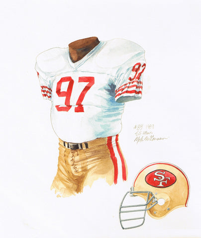 San Francisco 49ers 1989 - Heritage Sports Art - original watercolor artwork - 1