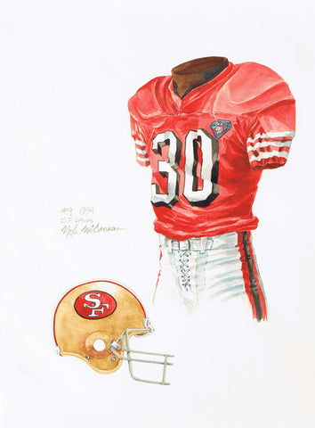San Francisco 49ers 1994 - Heritage Sports Art - original watercolor artwork - 1