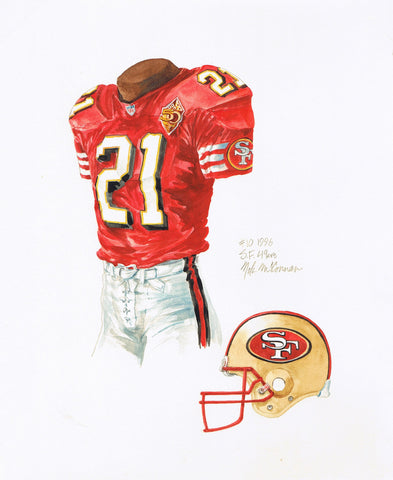 San Francisco 49ers 1996 - Heritage Sports Art - original watercolor artwork - 1