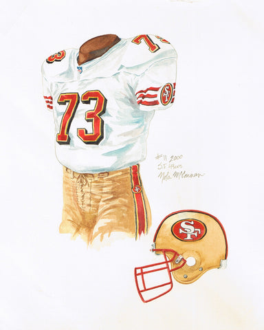 San Francisco 49ers 2000 - Heritage Sports Art - original watercolor artwork - 1