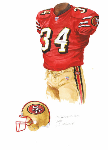 San Francisco 49ers 2005 - Heritage Sports Art - original watercolor artwork - 1