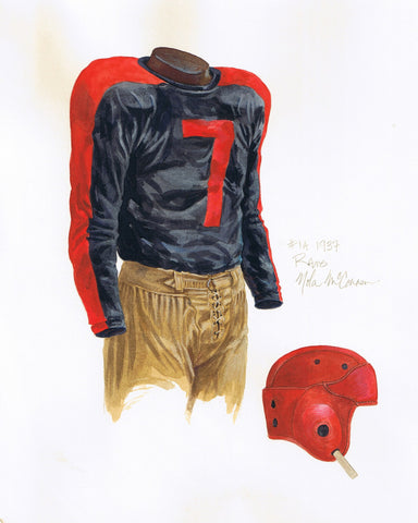 Los Angeles Rams 1937 - Heritage Sports Art - original watercolor artwork - 1