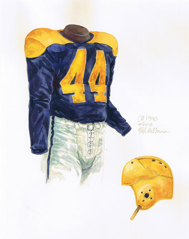 Los Angeles Rams 1940 - Heritage Sports Art - original watercolor artwork - 1