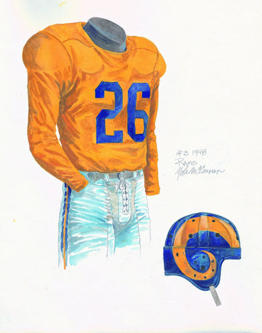 Los Angeles Rams 1948 - Heritage Sports Art - original watercolor artwork - 1