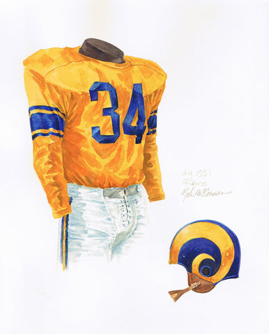 Los Angeles Rams 1951 - Heritage Sports Art - original watercolor artwork - 1