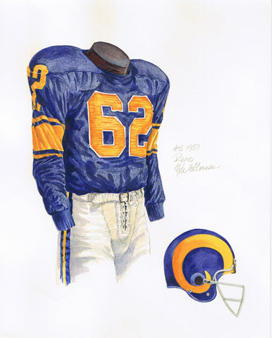 Los Angeles Rams 1957 - Heritage Sports Art - original watercolor artwork - 1