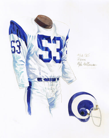 Los Angeles Rams 1965 - Heritage Sports Art - original watercolor artwork - 1