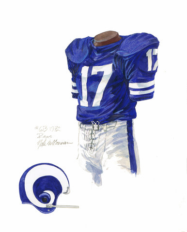 Los Angeles Rams 1972 - Heritage Sports Art - original watercolor artwork - 1