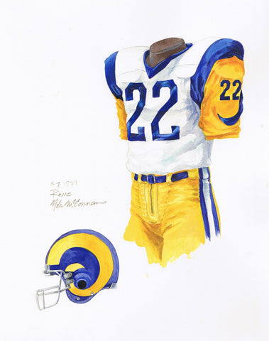Los Angeles Rams 1979 - Heritage Sports Art - original watercolor artwork - 1