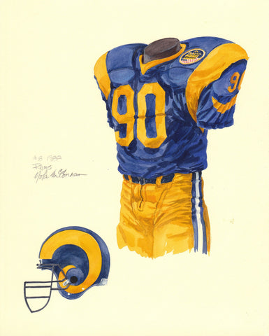 Los Angeles Rams 1988 - Heritage Sports Art - original watercolor artwork - 1