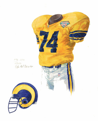 Los Angeles Rams 1994 - Heritage Sports Art - original watercolor artwork - 1