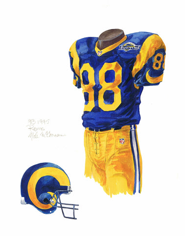 Los Angeles Rams 1995 - Heritage Sports Art - original watercolor artwork - 1