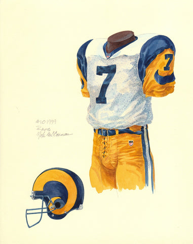 Los Angeles Rams 1999 - Heritage Sports Art - original watercolor artwork - 1