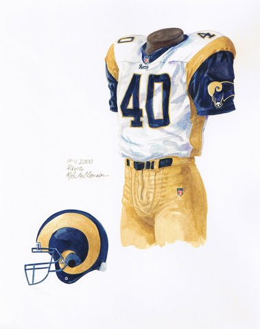 Los Angeles Rams 2000 - Heritage Sports Art - original watercolor artwork - 1