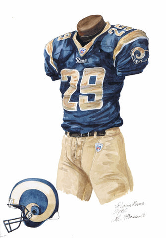 Los Angeles Rams 2006 - Heritage Sports Art - original watercolor artwork - 1