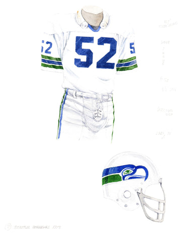 Seattle Seahawks 1978 - Heritage Sports Art - original watercolor artwork - 1