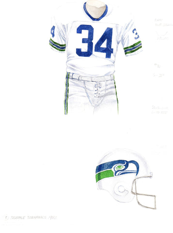 Seattle Seahawks 1982 - Heritage Sports Art - original watercolor artwork - 1
