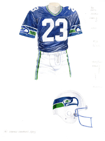 Seattle Seahawks 1983 - Heritage Sports Art - original watercolor artwork - 1