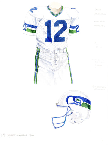 Seattle Seahawks 1984 - Heritage Sports Art - original watercolor artwork - 1