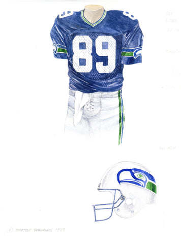Seattle Seahawks 1987 - Heritage Sports Art - original watercolor artwork - 1