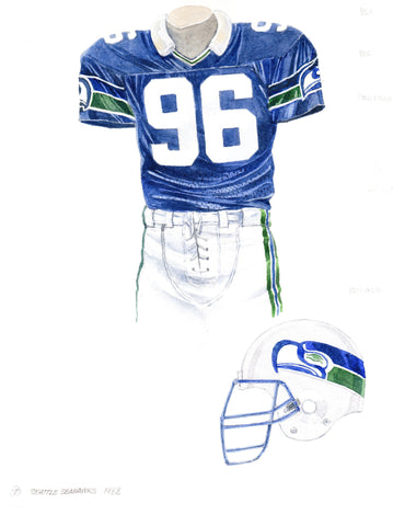 Seattle Seahawks 1988 - Heritage Sports Art - original watercolor artwork - 1