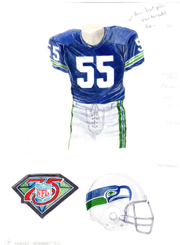 Seattle Seahawks 1994 - Heritage Sports Art - original watercolor artwork - 1