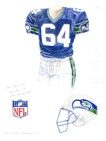 Seattle Seahawks 1999 - Heritage Sports Art - original watercolor artwork - 1