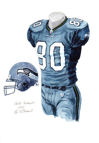 Seattle Seahawks 2007 - Heritage Sports Art - original watercolor artwork - 1
