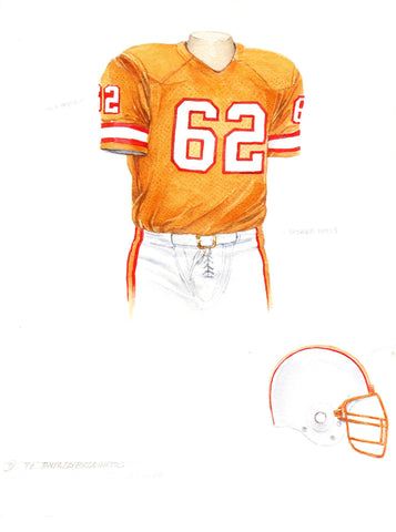 Tampa Bay Buccaneers 1979 - Heritage Sports Art - original watercolor artwork - 1