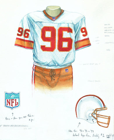 Tampa Bay Buccaneers 1992 - Heritage Sports Art - original watercolor artwork - 1