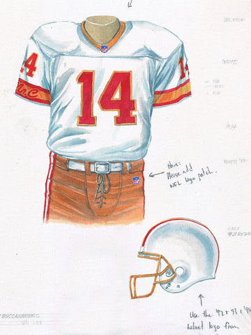 Tampa Bay Buccaneers 1993 - Heritage Sports Art - original watercolor artwork - 2