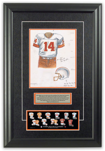 Tampa Bay Buccaneers 1993 - Heritage Sports Art - original watercolor artwork - 1