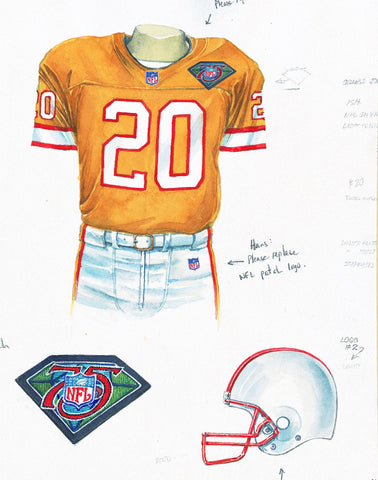 Tampa Bay Buccaneers 1994 - Heritage Sports Art - original watercolor artwork - 1