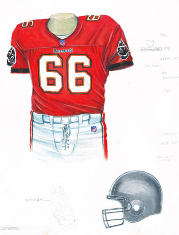 Tampa Bay Buccaneers 1998 - Heritage Sports Art - original watercolor artwork - 1