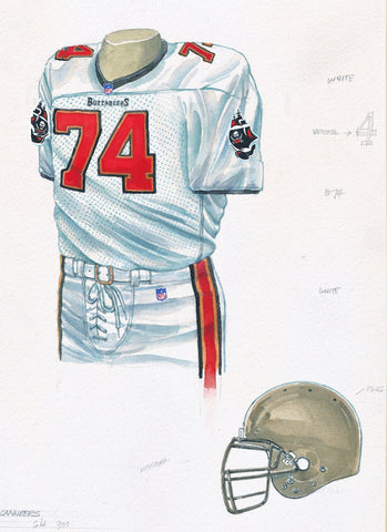 Tampa Bay Buccaneers 2000 - Heritage Sports Art - original watercolor artwork - 1