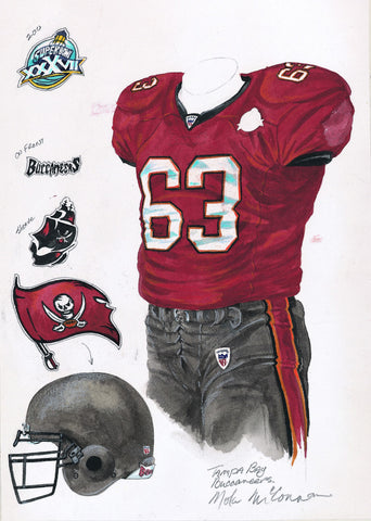 Tampa Bay Buccaneers 2002 - Heritage Sports Art - original watercolor artwork - 1