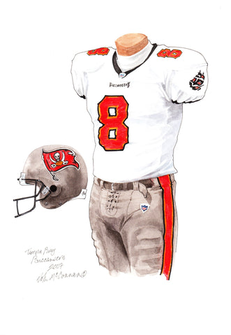 Tampa Bay Buccaneers 2007 - Heritage Sports Art - original watercolor artwork - 1