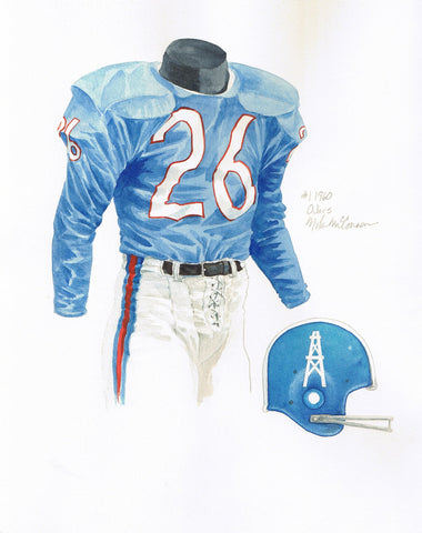 Tennessee Titans 1960 - Heritage Sports Art - original watercolor artwork - 1