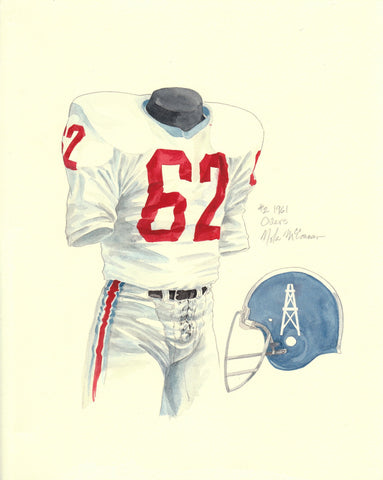 Tennessee Titans 1961 - Heritage Sports Art - original watercolor artwork - 1