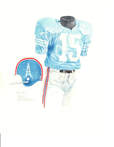 Tennessee Titans 1965 - Heritage Sports Art - original watercolor artwork - 1