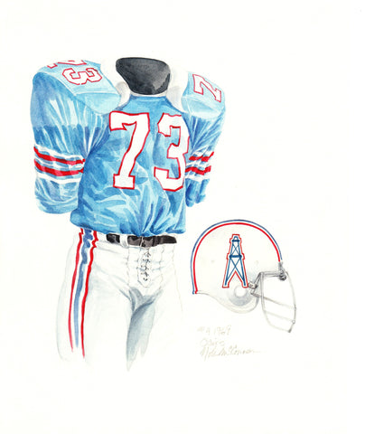 Tennessee Titans 1969 - Heritage Sports Art - original watercolor artwork - 2