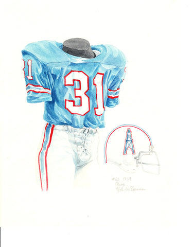 Tennessee Titans 1979 - Heritage Sports Art - original watercolor artwork - 1