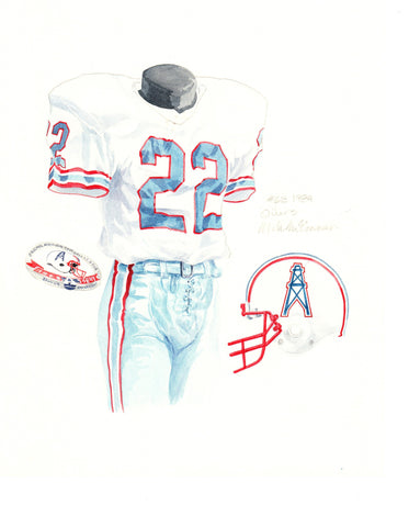 Tennessee Titans 1984 - Heritage Sports Art - original watercolor artwork - 1