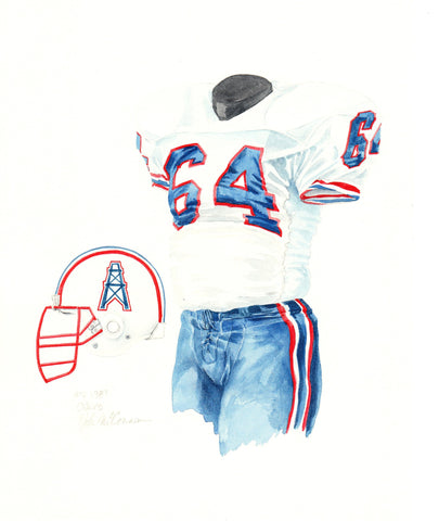 Tennessee Titans 1989 - Heritage Sports Art - original watercolor artwork - 1