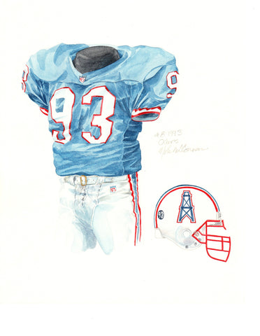 Tennessee Titans 1993 - Heritage Sports Art - original watercolor artwork - 1