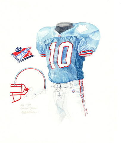 Tennessee Titans 1997 - Heritage Sports Art - original watercolor artwork - 1