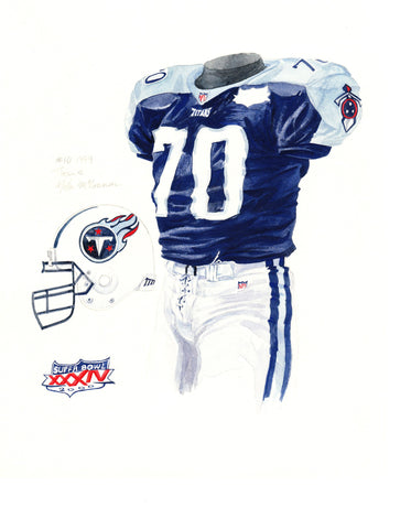 Tennessee Titans 1999 - Heritage Sports Art - original watercolor artwork - 1