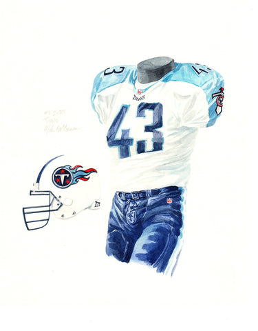 Tennessee Titans 2001 - Heritage Sports Art - original watercolor artwork - 1